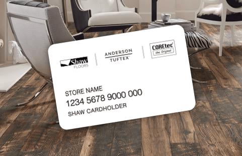 Shaw Flooring credit card | Birons Flooring Inc