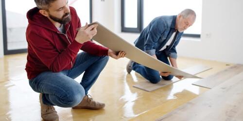 Vinyl installation   Birons Flooring Inc