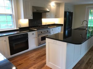 Kitchen cabinets and countertop | Birons Flooring Inc